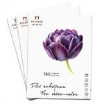 Папка бумаги для акварели «Тюльпан» Palazzo А4 200 г/м2, 70% хлопка, 15 л
