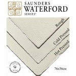 Бумага для акварели Saunders Waterford Rough White 100% хлопок 300 г/кв.м  56x76 см