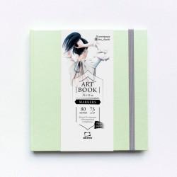 """Скетчбук Малевичъ для маркеров """"Fashion"""", мятный, 75 г/м, 15х15, 80л"""