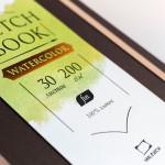 "Скетчбук Малевичъ для акварели ""Premium Dark"", Fin, 200 г/м, 20х20, 30л"