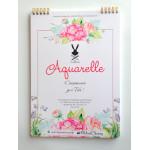 Альбом А4 Акварельный  Цветы 250 г/м2, 24 листа