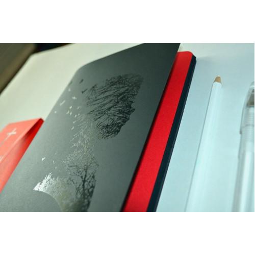 """Скетчбук для графики с черной бумагой """"Абстрактный мальчик"""" А5 (100г/м2, 64 с)"""