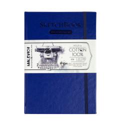 Скетчбук для акварели Малевичъ, 100% хлопок, синий, 300 г/м, 14,5х21 см, 20л