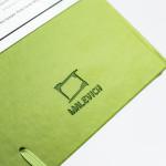 Скетчбук для акварели Малевичъ, 100% хлопок, салатовый, 300 г/м, 14,5х21 см, 20л