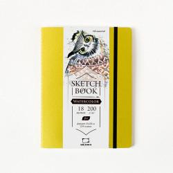 "Скетчбук Малевичъ для акварели ""Shammy"", Fin, салатовый, 200 г/м, 15х20, 18л"