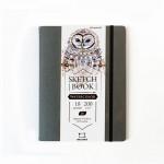 "Скетчбук Малевичъ для акварели ""Shammy"", Fin, серый, 200 г/м, 15х20, 18л"