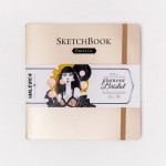 Скетчбук Малевичъ для графики и маркеров Bristol Glamour, шампань, 180 г/м, 19х19 см, 20л