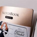 Скетчбук Малевичъ для графики и маркеров Bristol Glamour, золотой песок, 180 г/м, 19х19 см, 20л