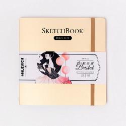 Скетчбук Малевичъ для графики и маркеров Bristol Glamour, кремовый, 180 г/м, 19х19 см, 20л