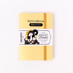 Скетчбук Малевичъ для графики и маркеров Bristol Glamour, золото, 180 г/м, 10х14 см, 20л