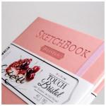 Скетчбук для графики и маркеров Малевичъ Touch Bristol,14x14см, розовый, 180 г/м,  40л