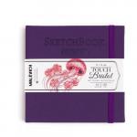 Скетчбук для графики и маркеров Малевичъ Touch Bristol,14x14см, фиолетовый, 180 г/м,  40л