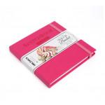 Скетчбук для графики и маркеров Малевичъ Touch Bristol,14x14см, малиновый, 180 г/м,  40л