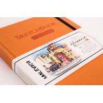 Скетчбук Малевичъ для акварели Veroneze, оранжевый, 200 г/м, 15х20 см, 50л