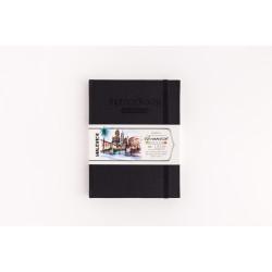 Скетчбук Малевичъ для акварели Veroneze, черный, 200 г/м, 15х20 см, 50л