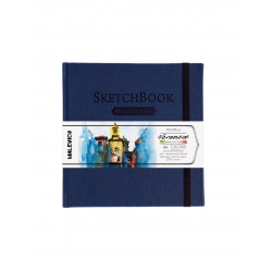 Скетчбук Малевичъ для акварели Veroneze, темно-синий, 200 г/м, 14,5х14,5 см, 40л