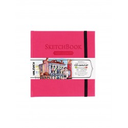 Скетчбук Малевичъ для акварели Veroneze, розовый, 200 г/м, 14,5х14,5 см, 40л