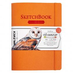 Скетчбук Малевичъ для акварели Veroneze, оранжевый, 200 г/м, 15x20 см, 18л