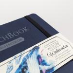 Скетчбук для акварели «White Swan», Малевичъ, синий, Fin, 200 г/м, 16х16 см, 25л