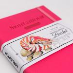 Скетчбук для графики и маркеров White Swan Bristol, малиновый, 180 г/м, А5 см, 50л