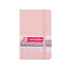 Блокнот для зарисовок Art Creation 140г/кв.м 9*14см 80л твердая обложка розовая