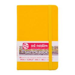 Блокнот для зарисовок Art Creation 140г/кв.м 9*14см 80л твердая обложка желтая