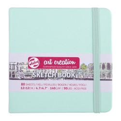 Скетчбук Art Creation 140г/кв.м 12*12см 80л, мятный