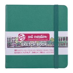 Скетчбук Art Creation 140г/кв.м 12*12см 80л, зеленый лес