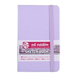 Скетчбук Art Creation 140г/кв.м 9*14см 80л, фиолетовый пастельный