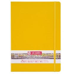 Блокнот для зарисовок Art Creation 140г/кв.м 21*29.7см 80л твердая обложка желтая