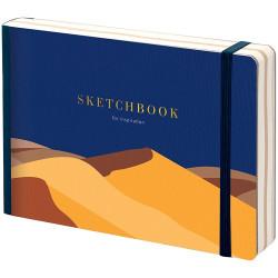 "Скетчбук - альбом для рисования 120*180 мм с листами крафт ""Desert"",  80 л, 100г/м2"