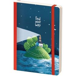"""Скетчбук - альбом для рисования с листами крафт """"Find your way"""", 120*180 мм, 80л, 100г/м2"""