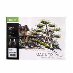 Скетчбук Maxleaf Marker pad А4, 32 л,  160г/м2