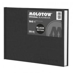 Скетчбук Molotow BlackBook A5 Landscape 144 лист 120 г/м.кв