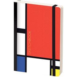 """Скетчбук - альбом для рисования с листами крафт """"Mondrian"""", 120*180 мм, 80л, 100г/м2"""