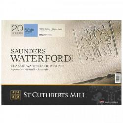 Бумага для акварели Saunders Waterford CP, хол.прессование, 300 г/м² 26x18 см, 20 л, цвет белый