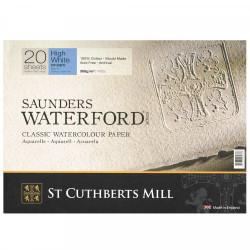 Бумага для акварели Saunders Waterford CP, хол.прессование, 300 г/м² 23x31см, 20 л, цвет экстра белый