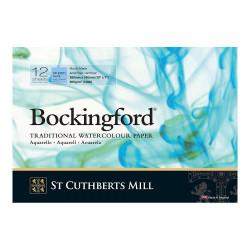 """Альбом для акварели """"Bockingford CP"""", холодное прессование, среднее зерно, A4, 300г/м2, 12л."""