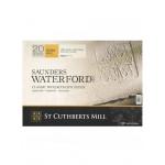 Бумага для акварели Saunders Waterford Rough Block, к/з, 300 г/м², 26x18 см, 20 л, белый