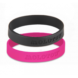 Набор браслетов Molotow черный/розовый