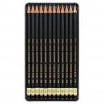 """KOH-I-NOOR 1912 (12) Набор профессиональных чернографитных карандашей """"Toison d'or"""" 2Н-8В, 12 шт, жестяная коробка"""