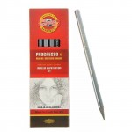 KOH-I-NOOR 8915 (06) Набор чернографитных карандашей Progresso без дерева, в лаке, 6 шт (8В, 6В, 4В, 2В, НВ, акварель), картон