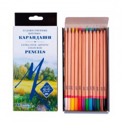 Набор профессиональных цветных карандашей Мастер-класс, 12 цветов