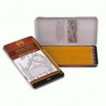 """KOH-I-NOOR 1502/1 (12) Набор профессиональных чернографитных карандашей """"Technic"""" (HB-10H), 12 шт, жестяная кор"""