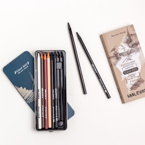 Набор карандашей «Малевичъ» в металлической коробке
