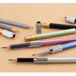 Удлинитель-держатель для карандаша «Сонет», металл, зеленый