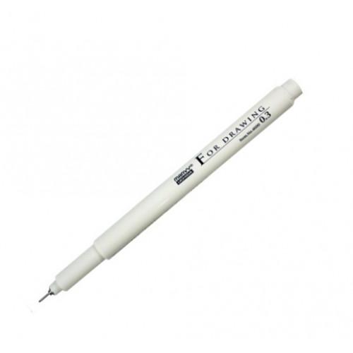 Линер, ручка для черчения и рисования 0,3мм черная