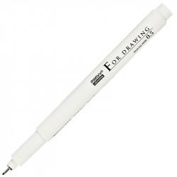 Линер, ручка для черчения и рисования 0,5мм черная