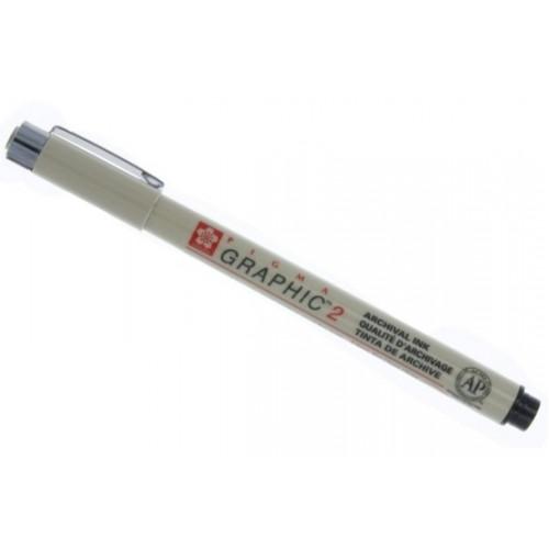 Ручка капилярная Pigma Graphic 2 Черный 2.0мм