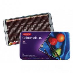 Набор цветных карандашей Coloursoft 36 цв в метал.упаковке